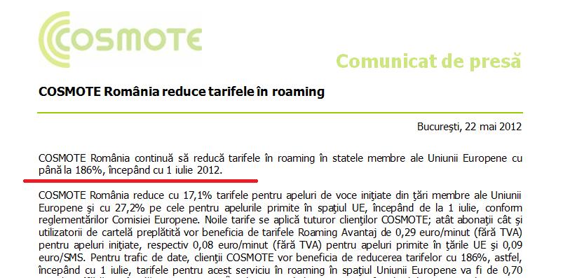 Se reduc tarifele in roaming