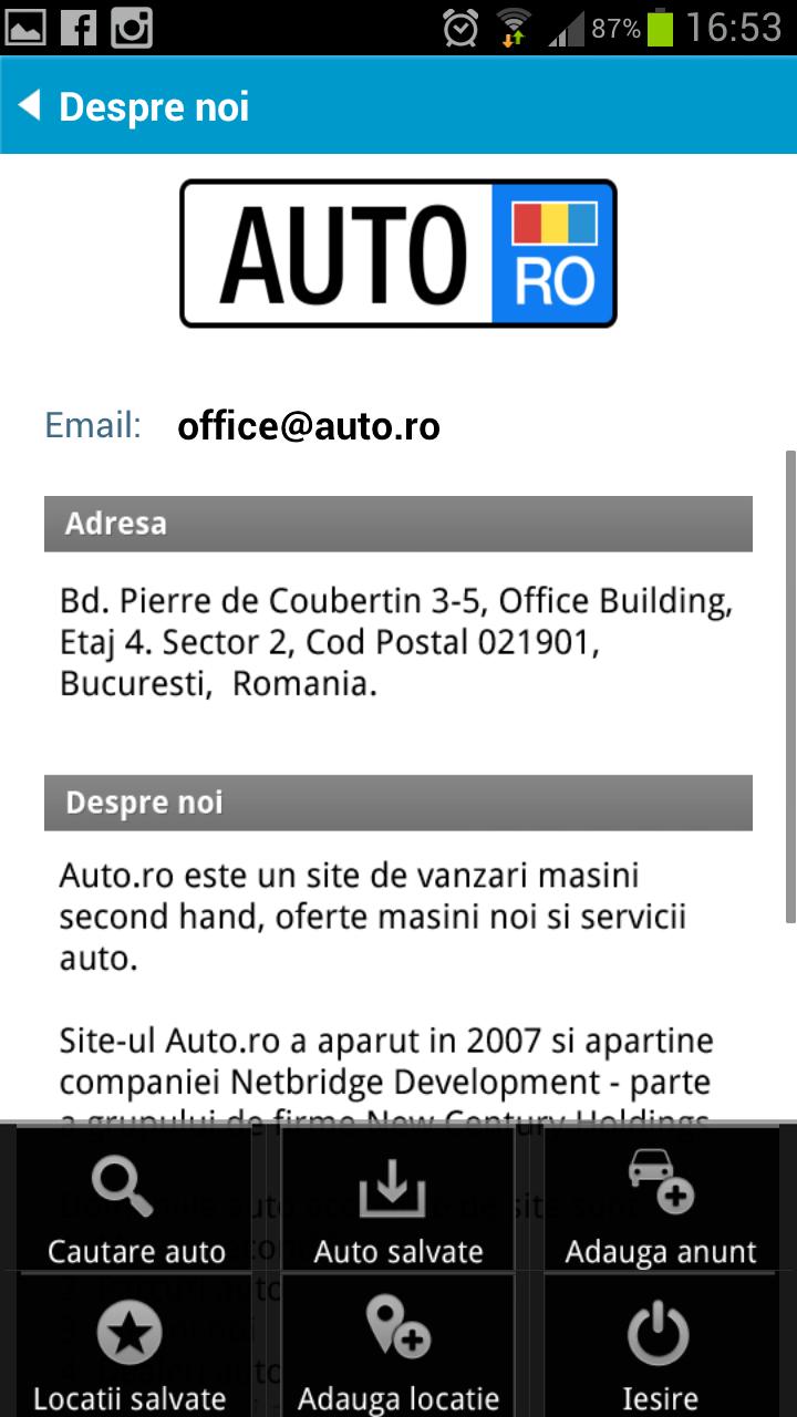 Aplicatia auto.ro si pe Android