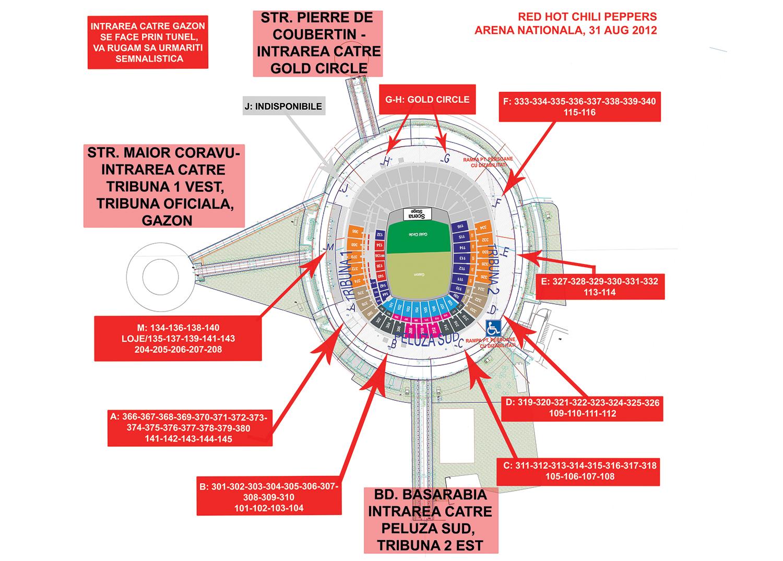 Harta acces_RHCP_Arena Nationala