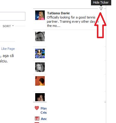 Optimizeaza-ti Facebook-ul, ascunde ticker-ul