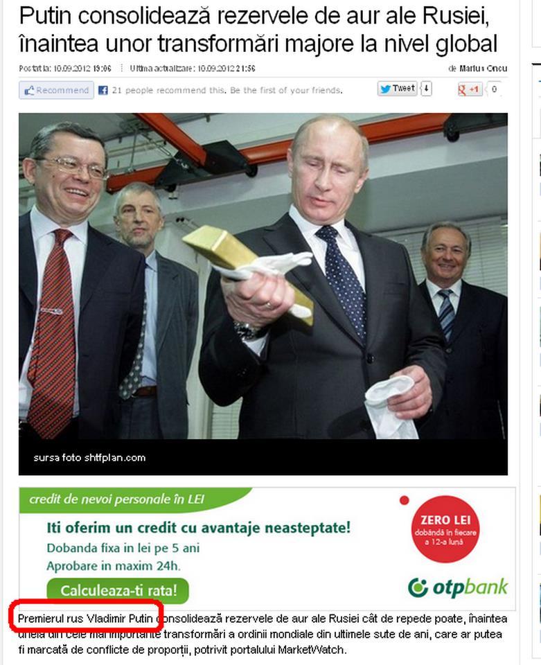 Putin e presedinte