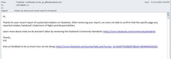 viki facebook report notification
