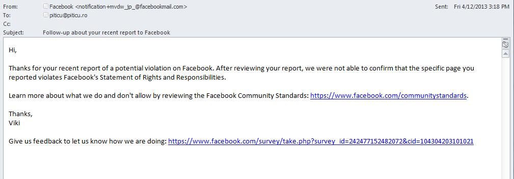 viki facebook report notification