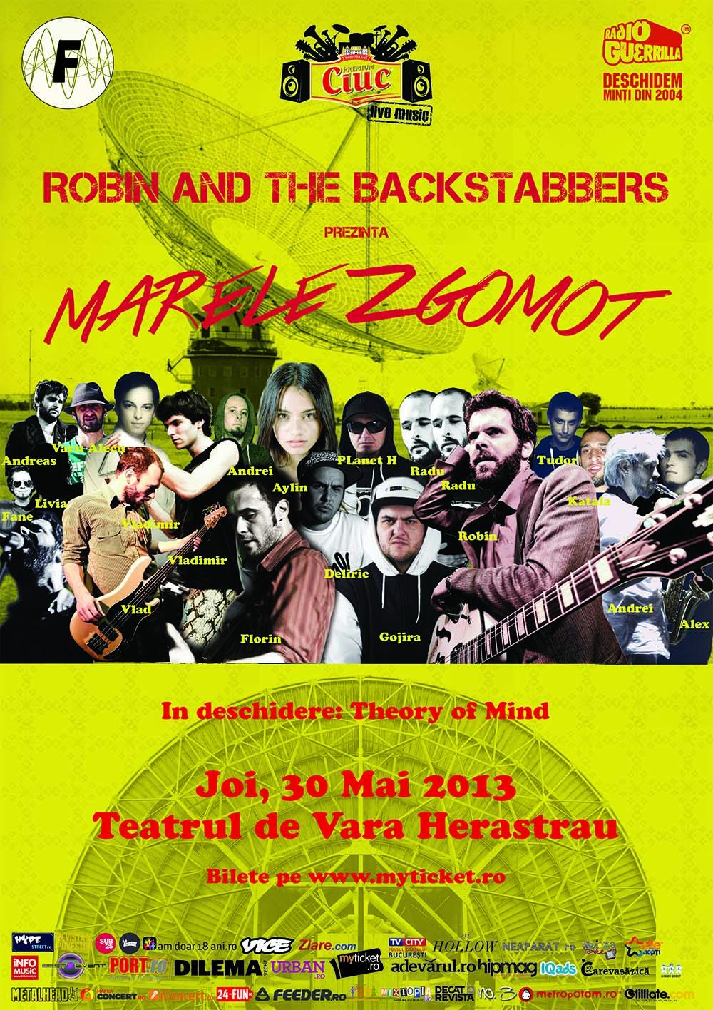 Robin and the Backstabber - Marele Zgomot - 30 mai Teatrul de Vara Herastrau
