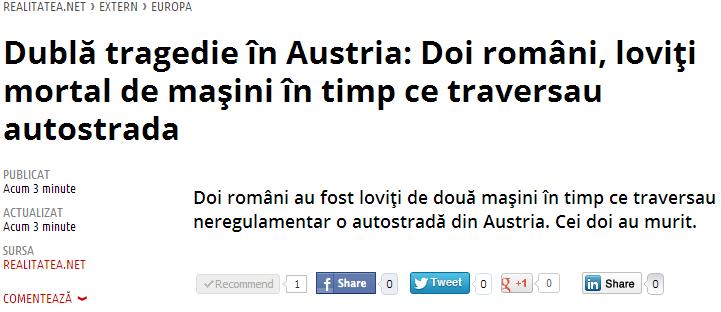 Romani, Romania nu e afara!