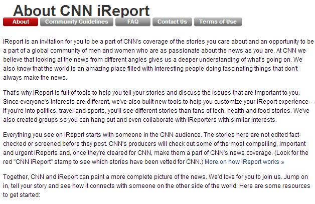 Ce este CNN iReport?