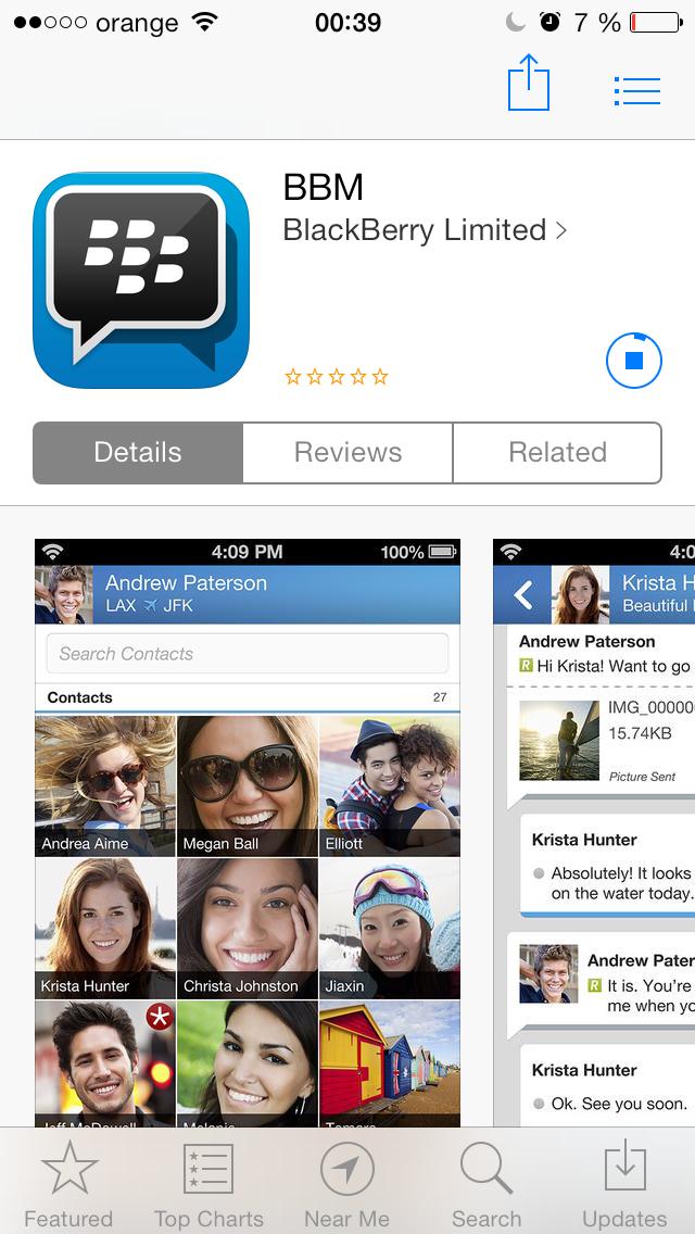 Blackberry Messenger in final pentru telefoane