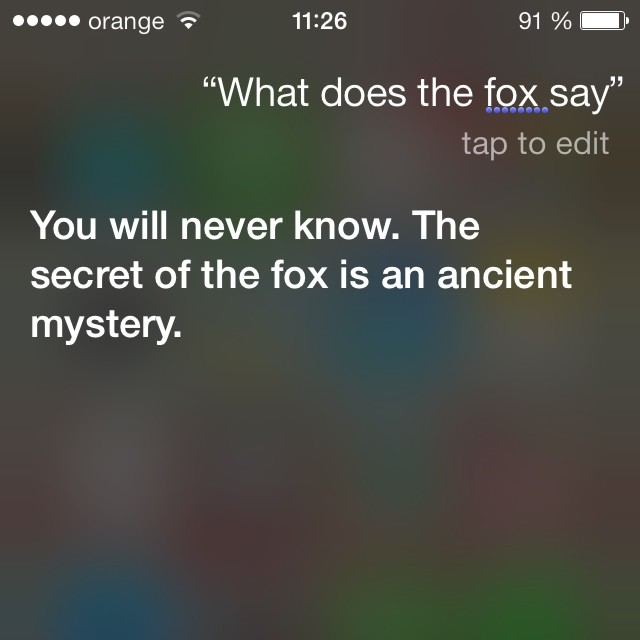 Ce spune vulpea, acum si pe Siri