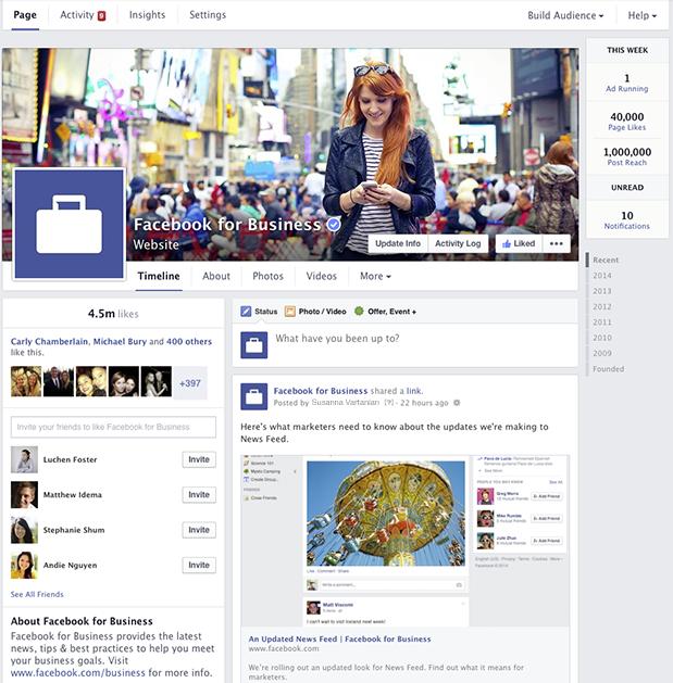 Noile pagini Facebook