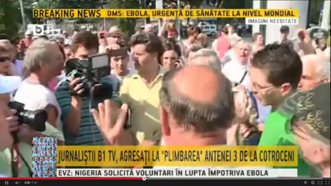 No comment: jurnalisti agresati la protestul Antena 3