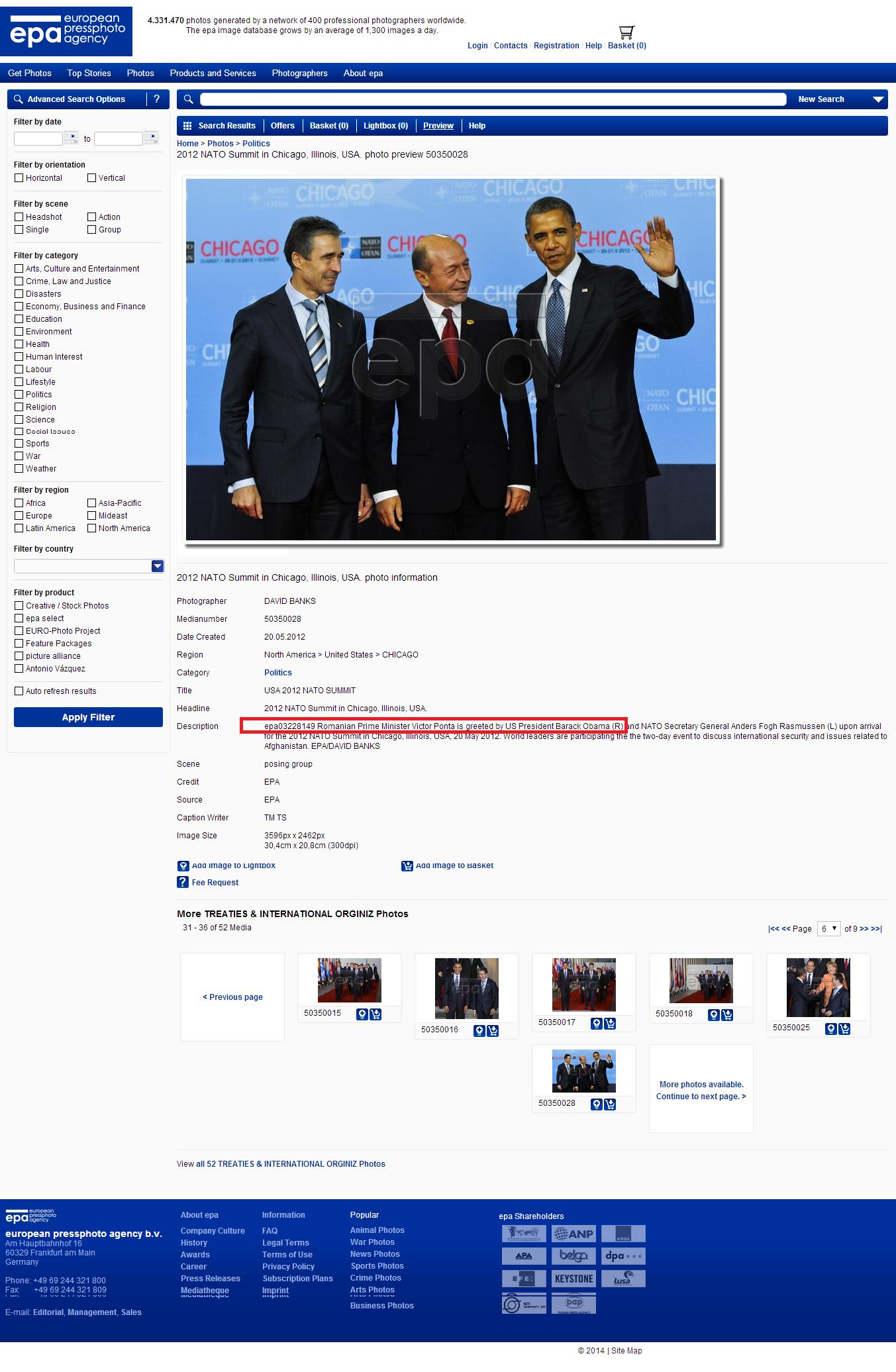 Ponta, cu numele pe poza lui Basescu pe agentiile de stiri