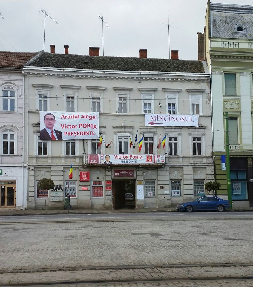 Campanie electorala la Arad