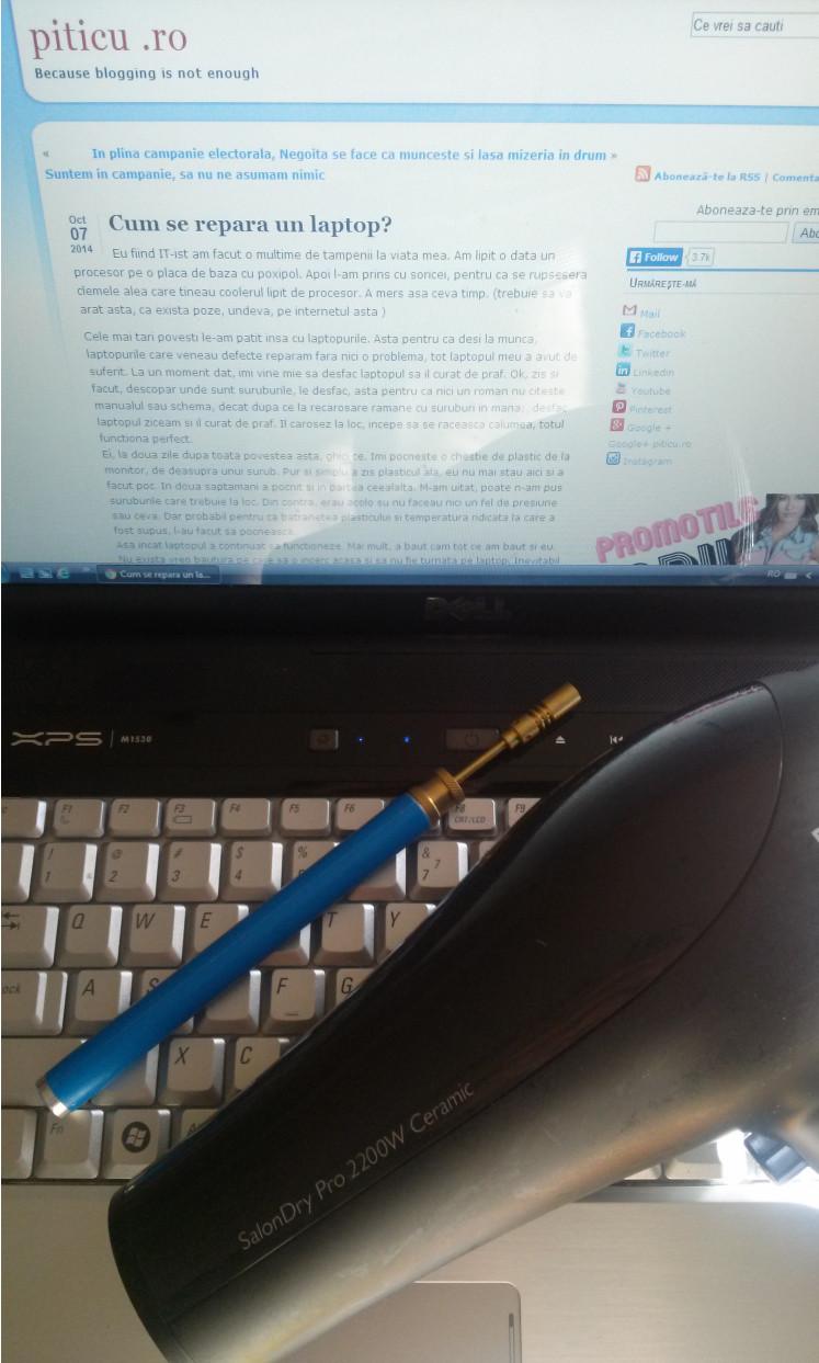 Cum sa repari laptopul cu foehnul?