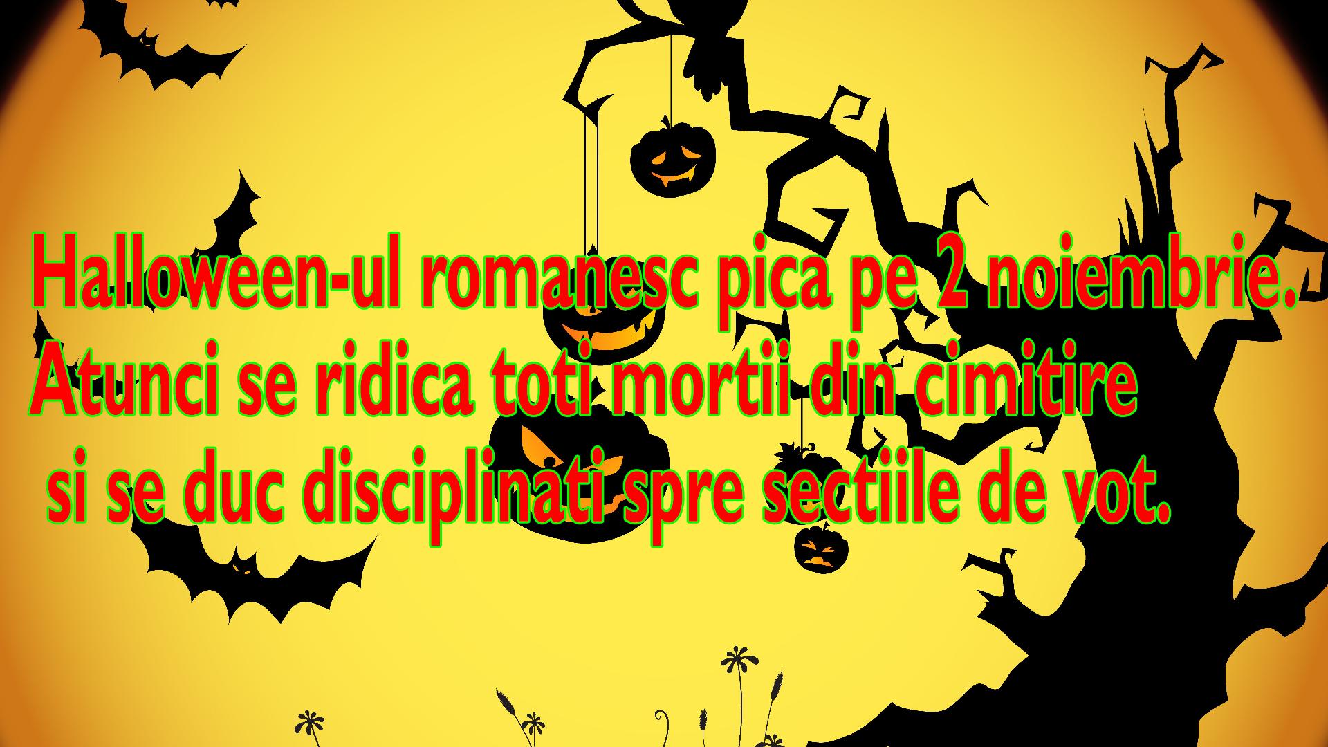 Halloween-ul va fi pe 2 noiembrie anul asta in Romania