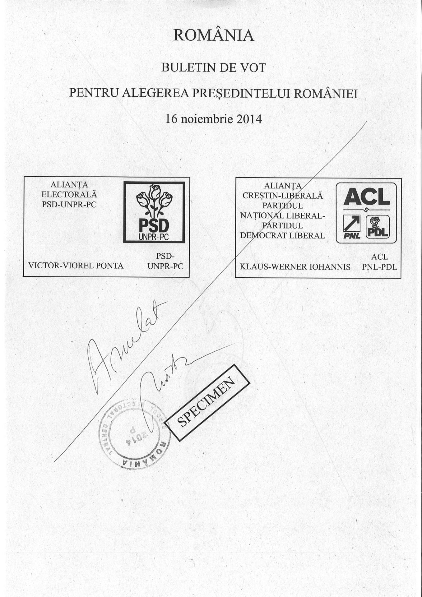 Cum arata buletinul de vot de maine