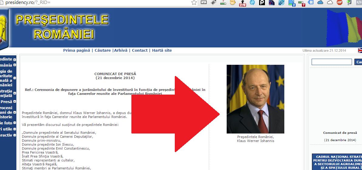 Basescu inca nu a plecat de la Cotroceni