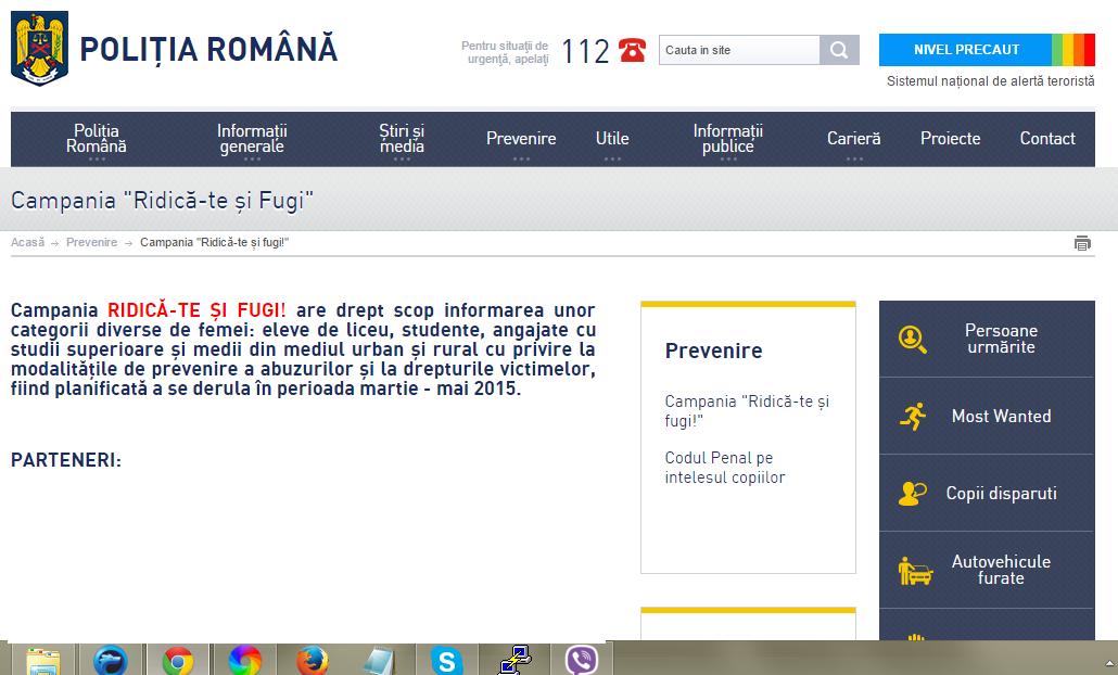Campanie a Poliției Române: Ridică-te și fugi!