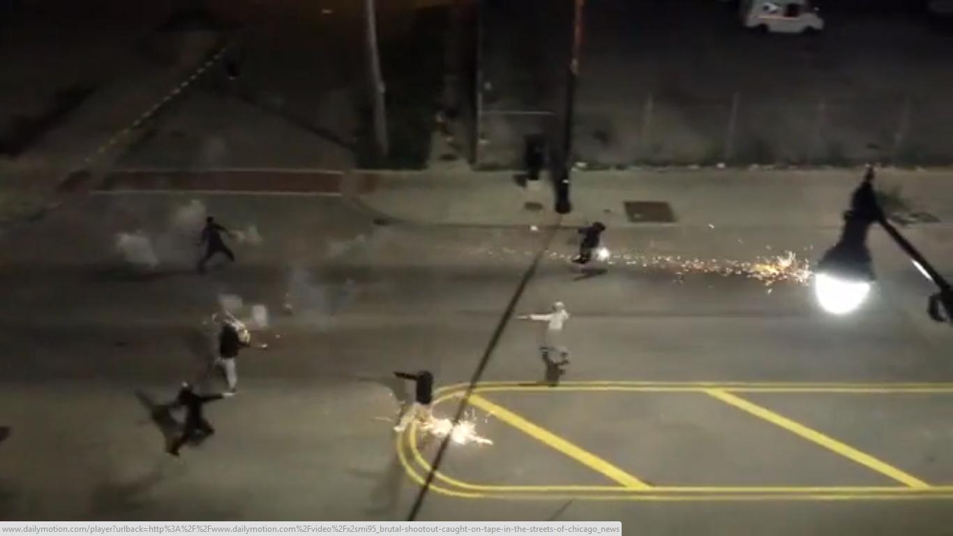 S-au jucat de-a împușcatea pe străzi