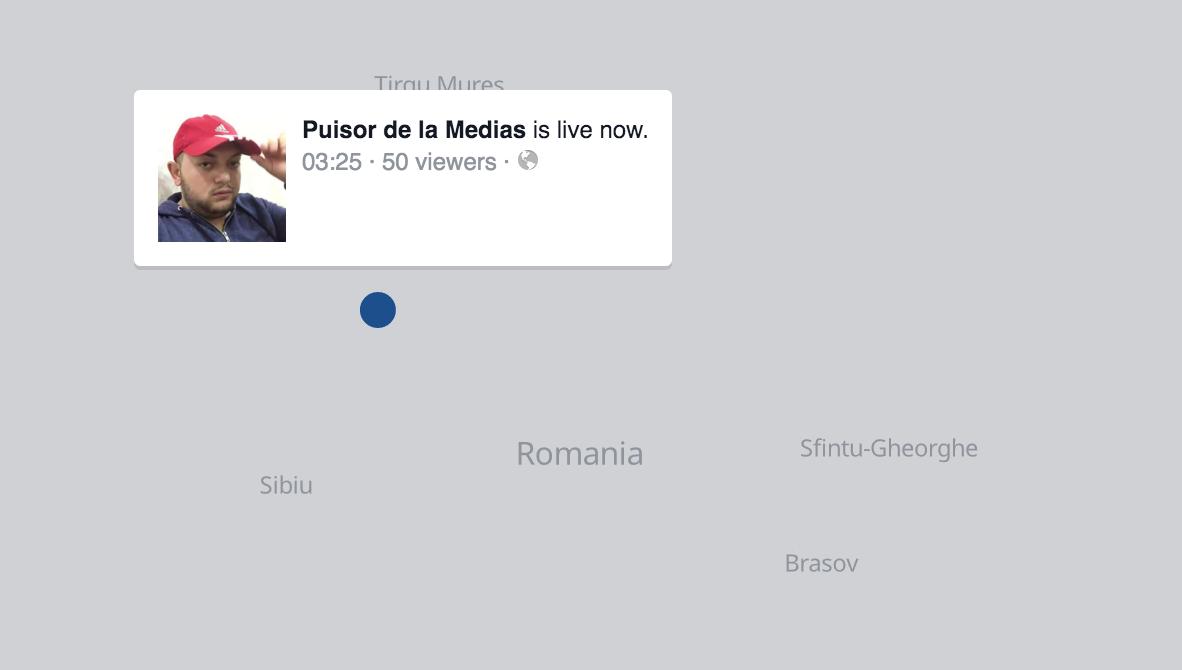 Ce se întâmplă acum pe Facebook LIVE